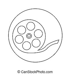 Film Reel Icon illustration design