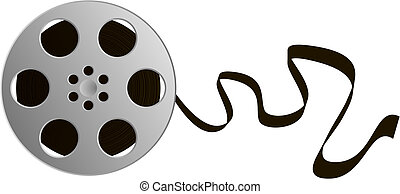 Illustration of a film reel. Available in jpeg and eps8 formats.