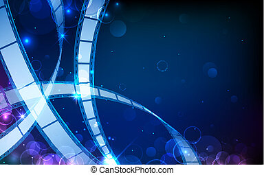 Film reel - illustration of film reel stripe on abstract...