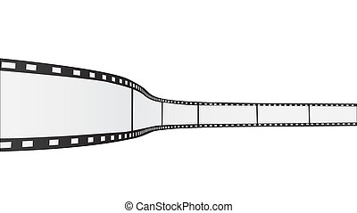 Film Reel - Image of a film reel isolated on a white...