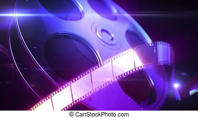 Film reel animation background. This is loopable animation.