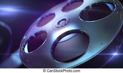 High quality film reel. Loopable animation background.