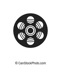 film reel movie cinema icon. Vector graphic