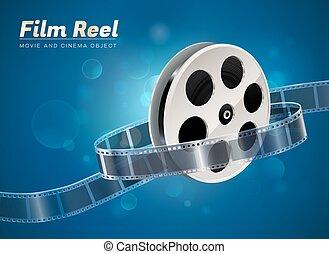 film reel movie cinema object