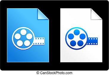 Film Reel on Paper Set