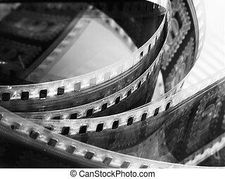film reel - portion of movie film reel