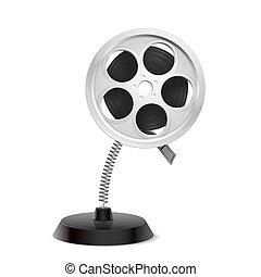 Film reel souvenir - Table souvenir in form of film reel on...
