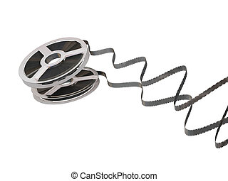 Film reel - 3D render of a film reel isolated on white...