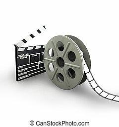 Film Reel isolated on White background - 3d illustration