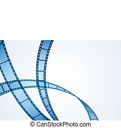 illustration of film reel stripe on abstract background
