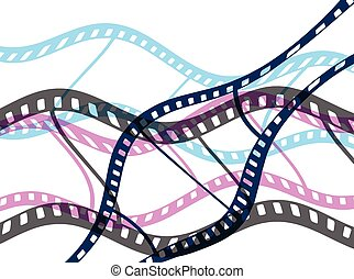 Film Reel Vector Background