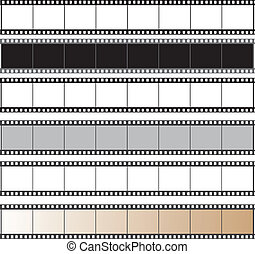 film reel vector set - film reel vector set