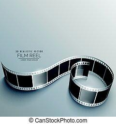 film reel vector with shadows