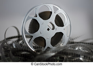 Film reel with celluloid