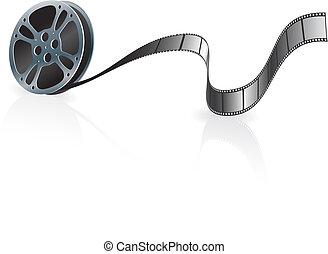 Film Reel Original Vector Illustration Film Reel Concept