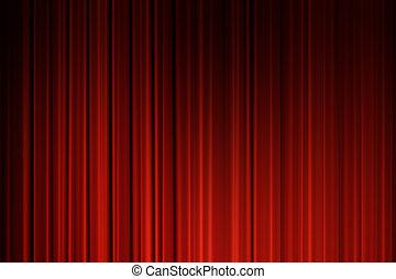 film, rideaux