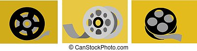 film roll icon isolated on background