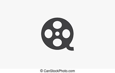 film roll icon. vector illustration on white background.