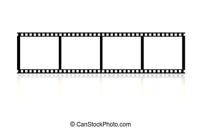 Film roll on a white background illustration