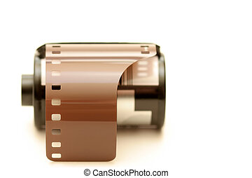 film roll over white