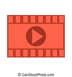 film roll with play icon , Vector illustration over white background