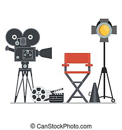 film set director chair - Film directors chair with...