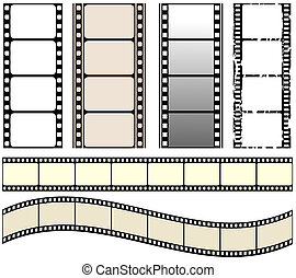 film set - vector seamless film strips set