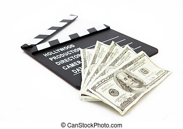 Film slate and money