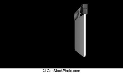 film slate - Animation of a film slate