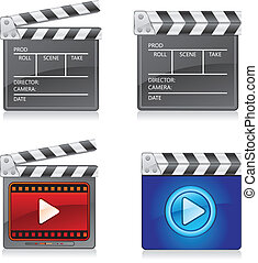Film slate with Player icon