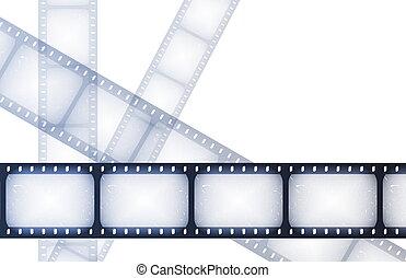 film, spécial, bobines, nuit