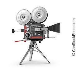 film, stile, macchina fotografica, vecchio