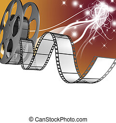film   - 3d Film Strip