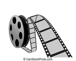 film- streifen, und, spule