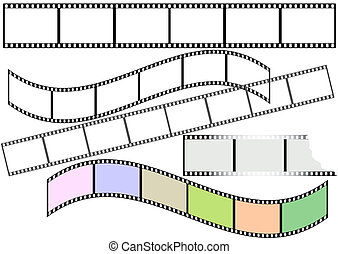 film, strimler, (vector)