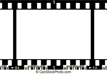 Film Strip (1 Frame, with numbers, with code), vector format.