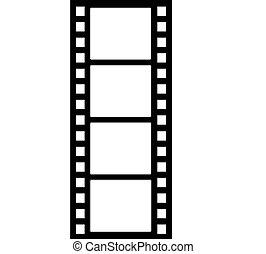 Film strip illustration.