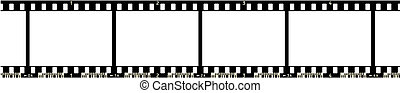Film Strip (4 Frames, with numbers, with code), vector format.