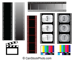 Film strip backgrounds