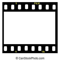 Film strip. - Black film strip with small words.
