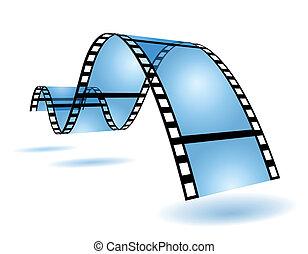 Film strip - Blue film strip in blue