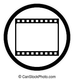 Film strip button.