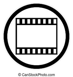 Film strip button.