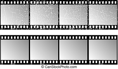 Film strips - one with grunge effect