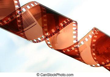 Film strip closeup