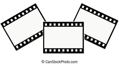 Film strip collage