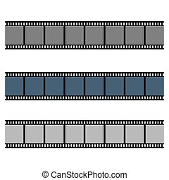 Film strip collection vector illustration isolated