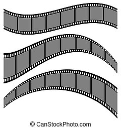 Film strip collection vector illustration isolated on white background