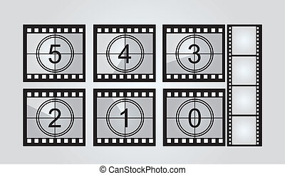 film strip countdown - black and white film strip countdown...