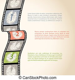 Film strip countdown infographic